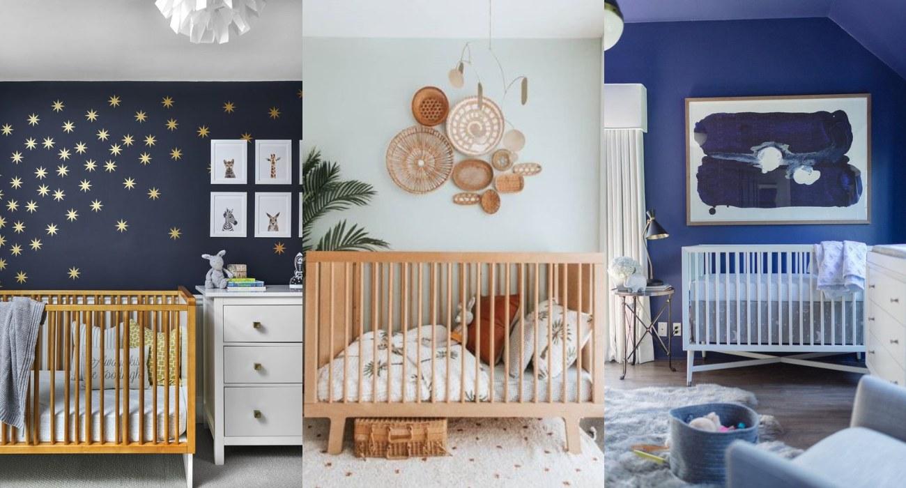 Habitaciones de bebés pintadas de color azul