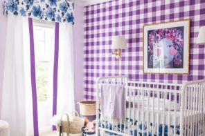 Decoración bebés con cuadros y flores