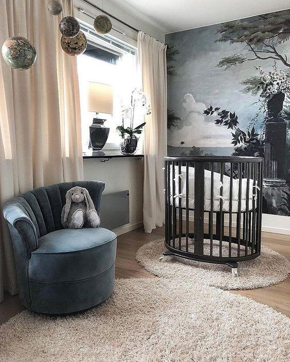 Habitaciones de bebés con cunas Stokke
