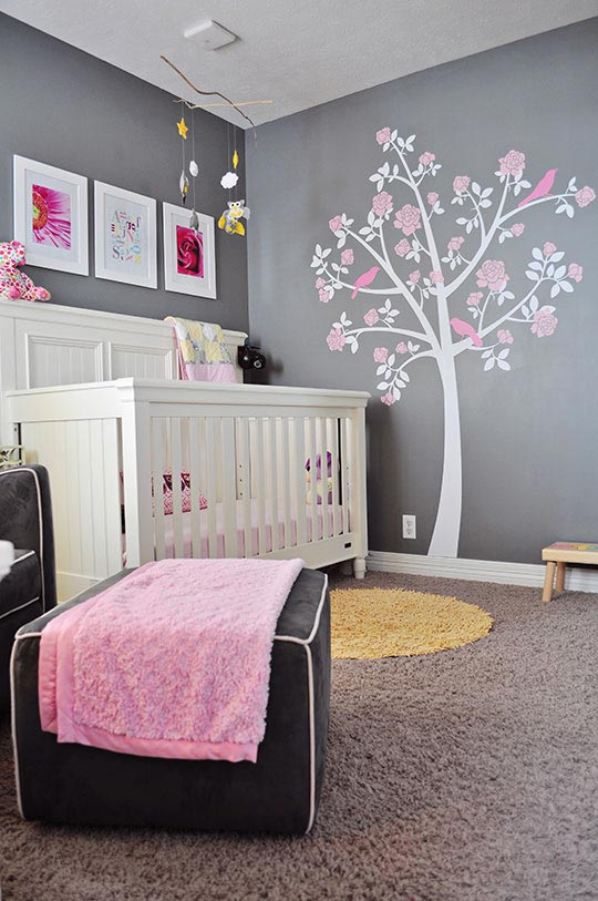 decoracion habitacion bebe nia habitacion bebe gris