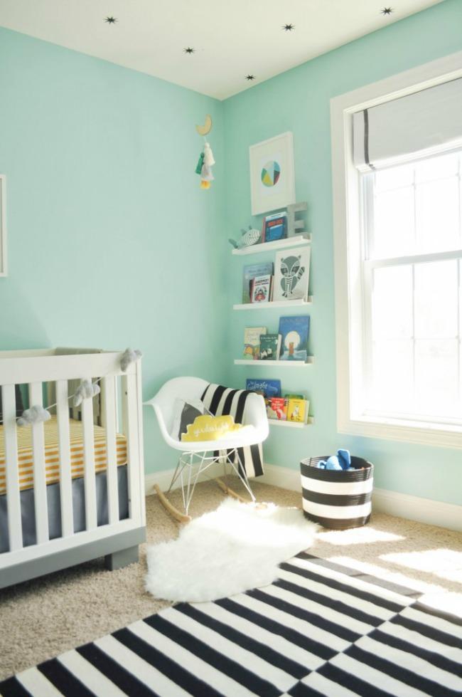 Tendencia color mint en decoración para bebés