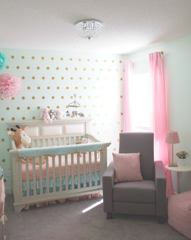 Tendencia color mint en decoraci n para beb s decoraci n for Cortinas cuarto bebe