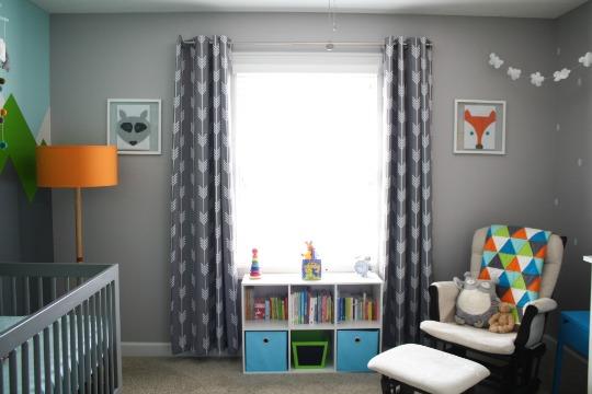 Mural de montañas para la habitación de Hudson , Habitaciones Bebé Niño