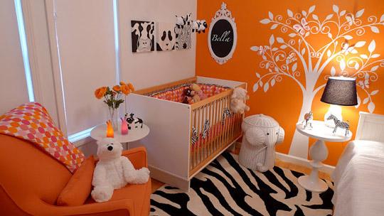 Color naranja: la habitación de Bella
