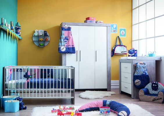 Colores para bebés que combinan con naranja