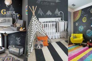Habitaciones de bebé con pintura pizarra, consejos y FOTOS