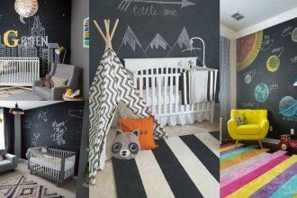Habitaciones de bebé con pintura pizarra
