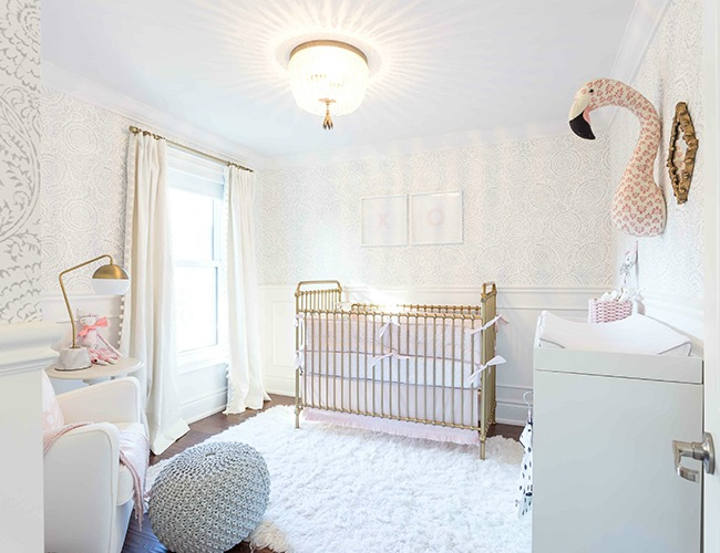 dormitorio dulce y elegante beb