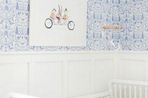 Decoración azul y blanco para niñas