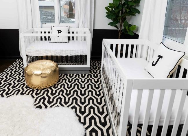 Habitación gemelar en Blanco y Negro