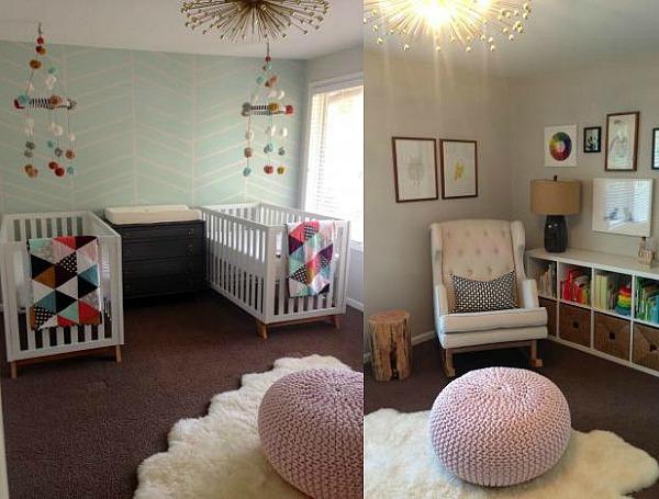 Una habitaci n para dos ni as decoraci n beb s for Cuartos para ninas gemelas