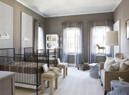 Inspiracion habitaci n para gemelos en tonos grises for Cuartos para ninas gemelas