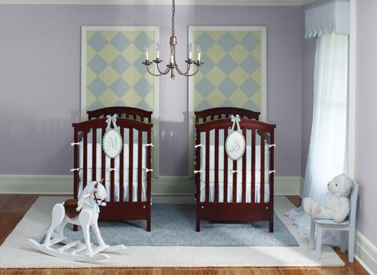 Ideas para pintar una habitación de bebés gemelos