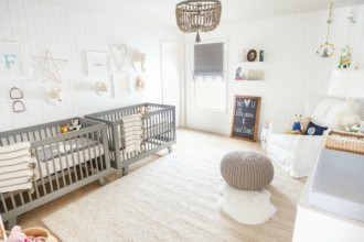 habitacin neutra para dos bebs