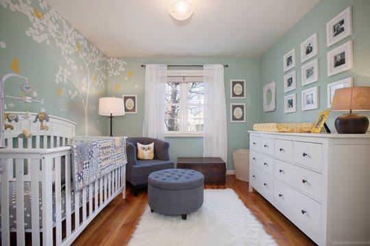 Un dormitorio sofisticado y relajante decoraci n beb s - Decoracion habitacion del bebe ...