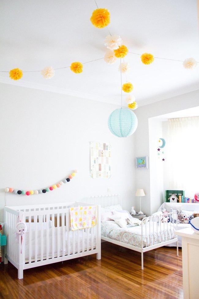 Habitaciones compartidas por bebé y niño