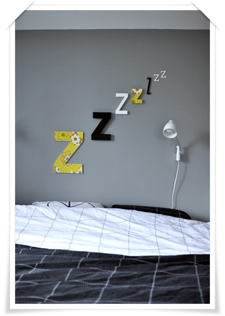 Idea para decorar la pared con letras