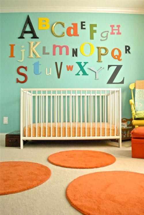 Letras decorativas para bebés: Abecedario