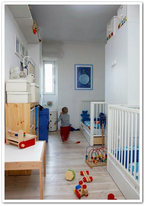 Un dormitorio para dos con muebles de ikea decoraci n beb s - Ikea habitaciones bebe ...