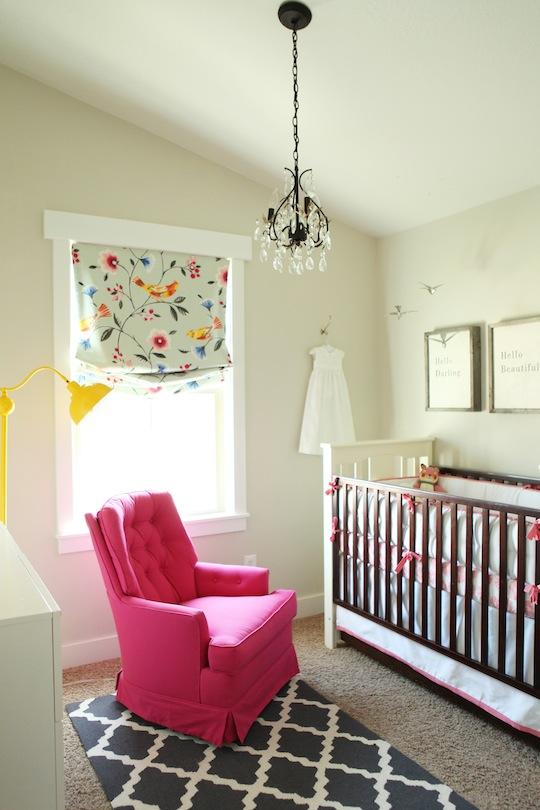 Inspiración habitación de bebé romántica