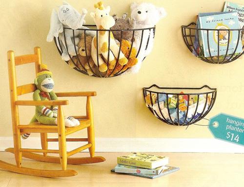 Ideas para guardar los juguetes del bebé