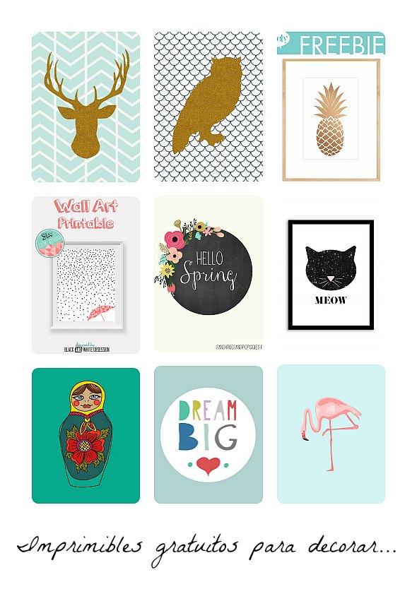 Láminas imprimibles gratis para decorar