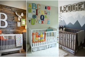 Letras decorativas para bebés