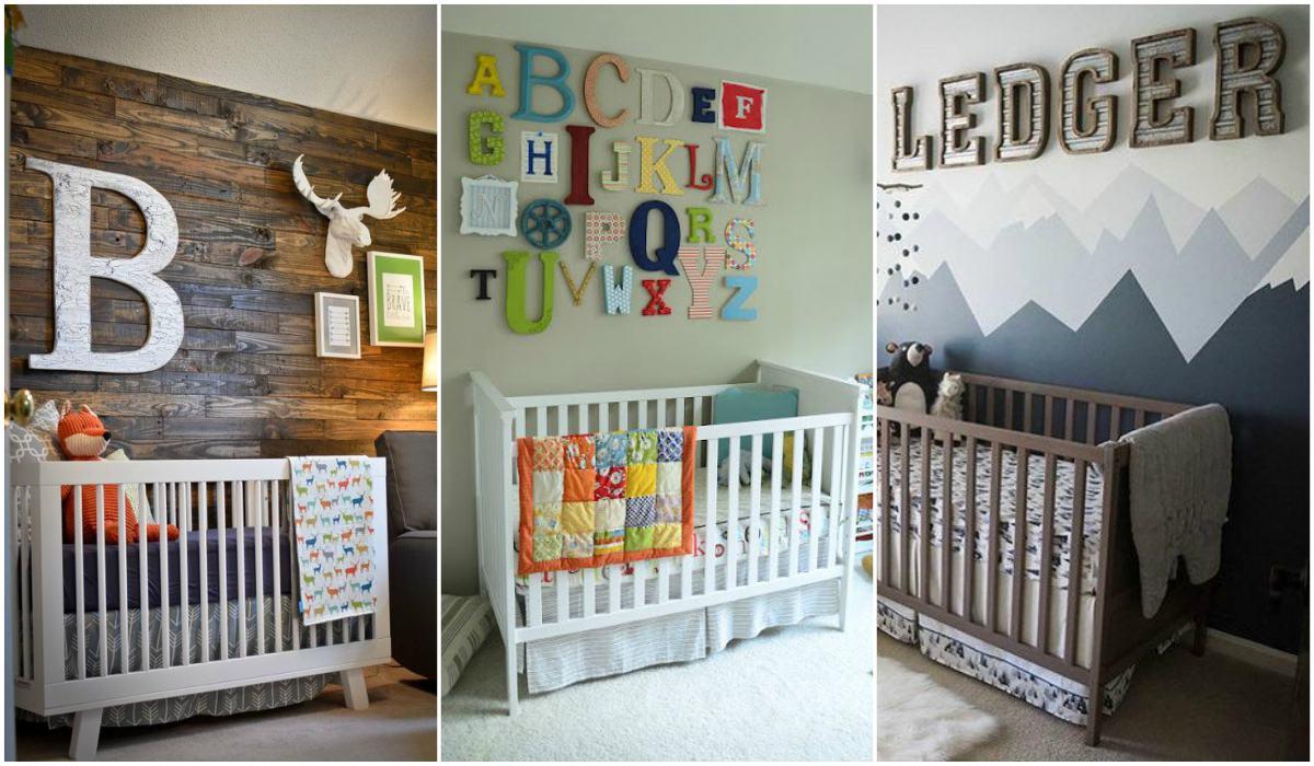 Letras decorativas para bebés