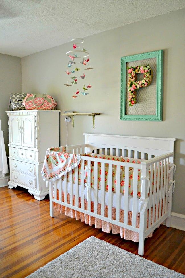 Letras de flores para decorar el cuarto del bebé | DECORACIÓN BEBÉS