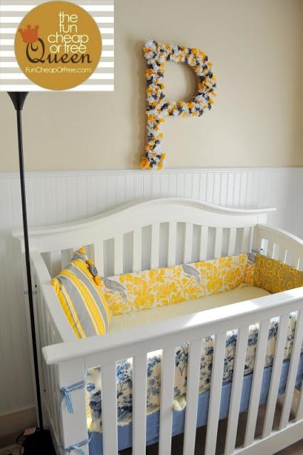 Letras de flores para decorar el cuarto del bebé