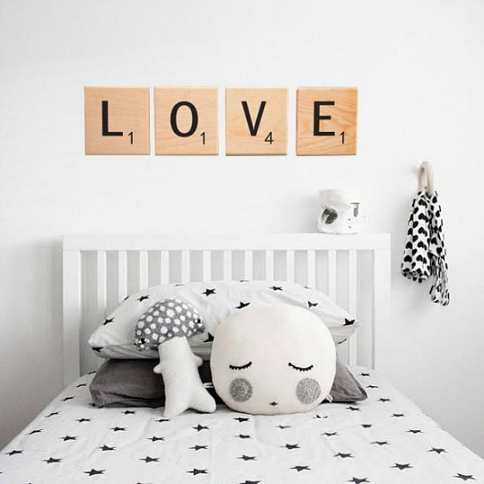 Decoracion Letras Pared ~ Letras de dise?o Scrabble para decorar  DECORACI?N BEB?S