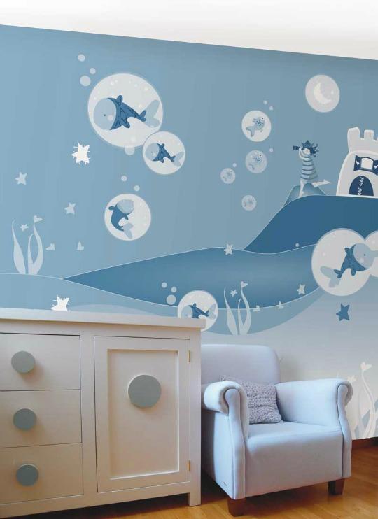 Murales para habitaciones de beb decoracion bebes - Murales para habitaciones de bebes ...