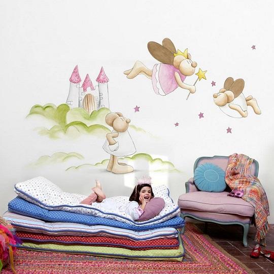 Murales para beb s murales para habitaciones de beb - Murales de pared pintados a mano ...