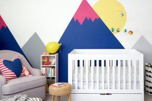 Cómo pintar un mural de montañas en la habitación del bebé