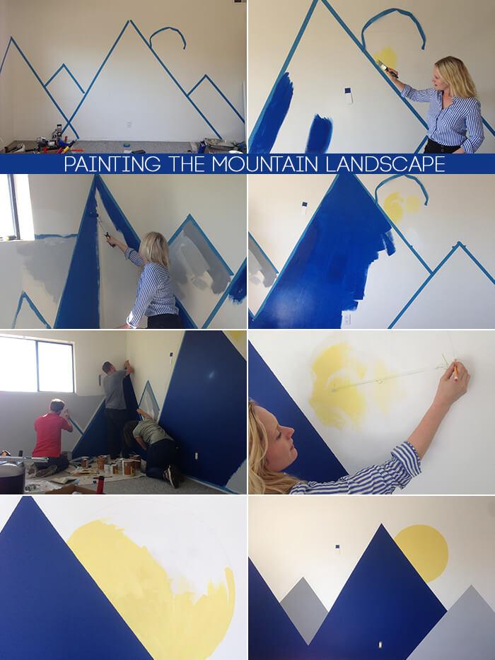 Mural montañas DIY