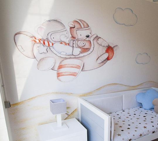 "Murales de papel efecto ""pintado a mano"""
