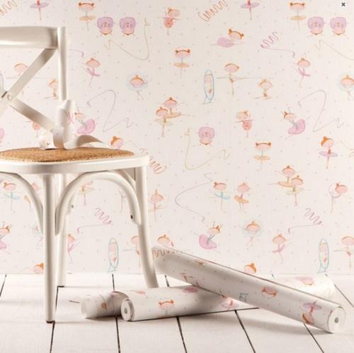 Papel pintado para beb s de zara home decoraci n beb s - Papel pintado habitacion bebe ...