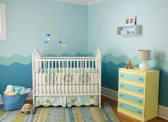 Ideas para pintar la habitaci n del beb decoraci n beb s - Tecnicas para pintar una habitacion ...