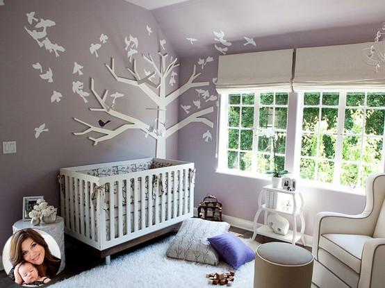 Decorar con rboles el cuarto del beb decoraci n beb s for Papel pared habitacion bebe
