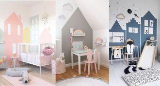 Pintar una casita en la habitación del bebé
