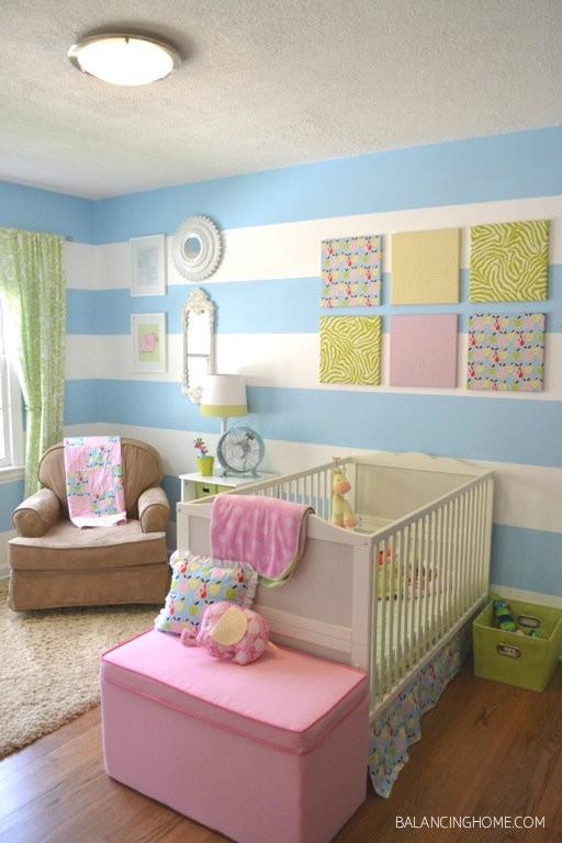 Habitaciones de bebes a rayas | DECORACIÓN BEBÉS