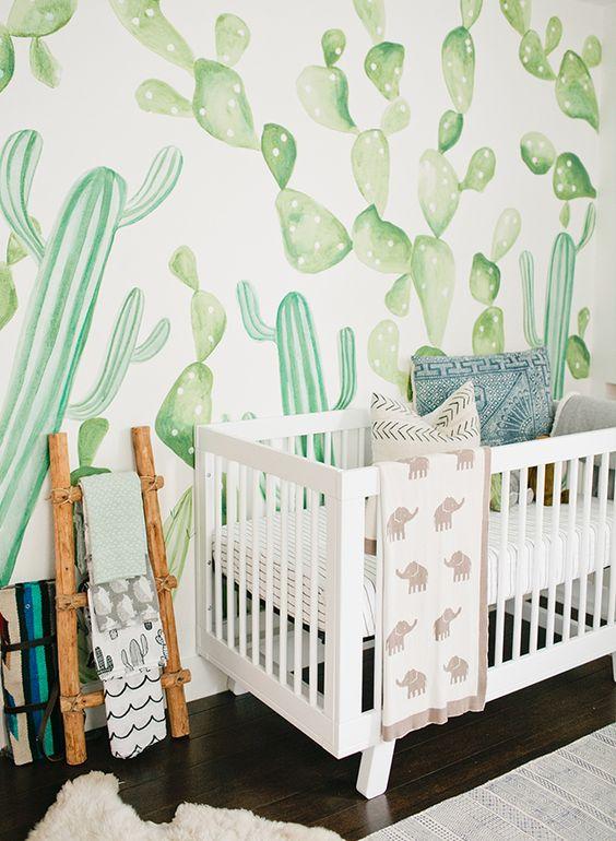 ideas decoracin bebs tendencia cactus para bebs