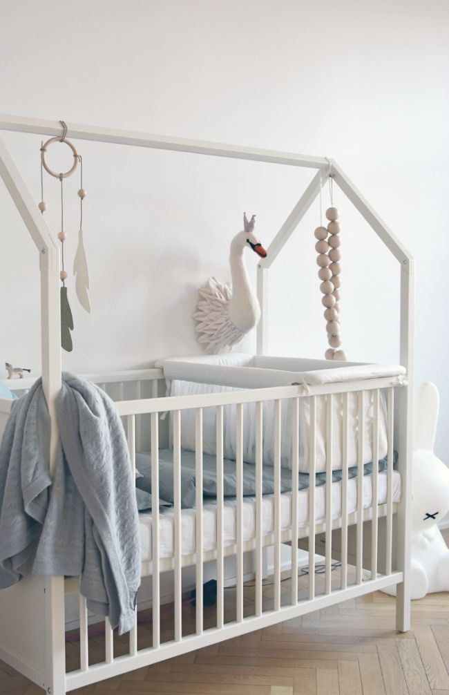 tendencia cisnes en la habitacin del beb