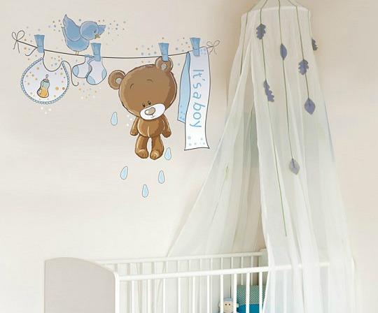 Decora la habitaci n del beb con vinilos stica for Vinilos cuartos bebe