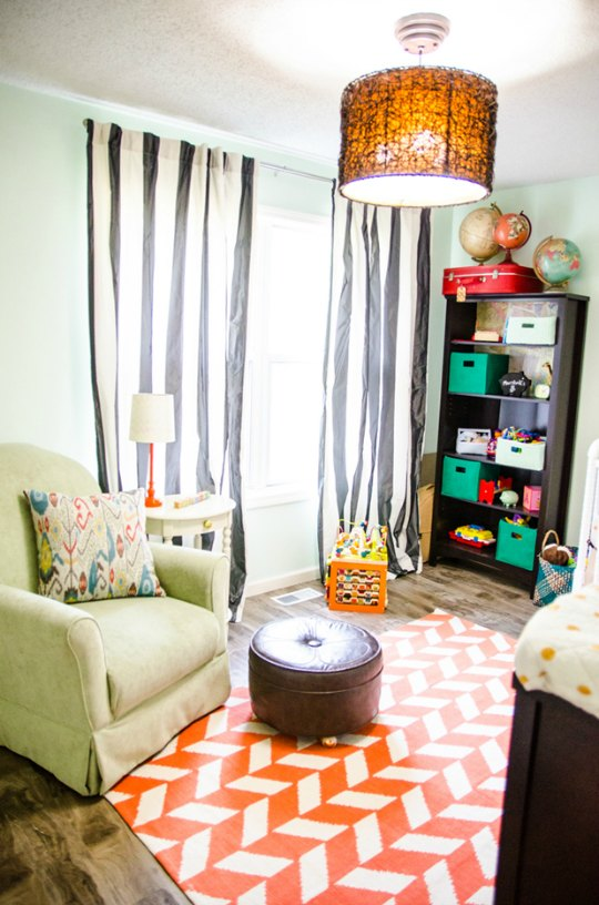 Habitación de estilo vintage para el bebé